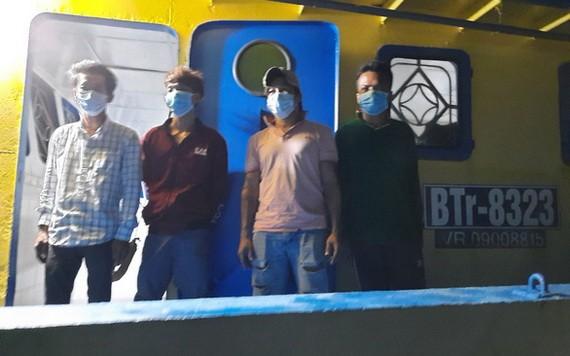 被查獲的4名非法入境人員。(圖源:呂不榮)