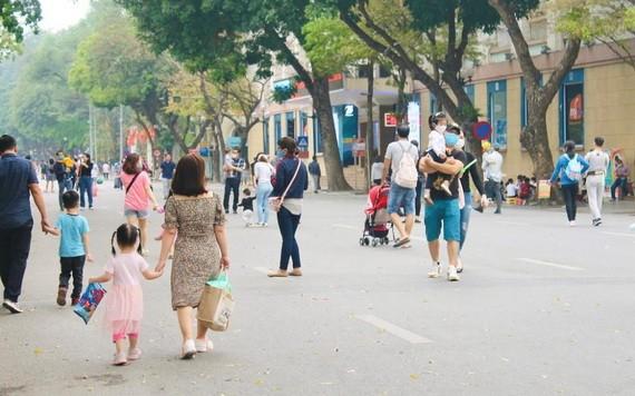 河內市步行街一隅。(圖源:燕梅)