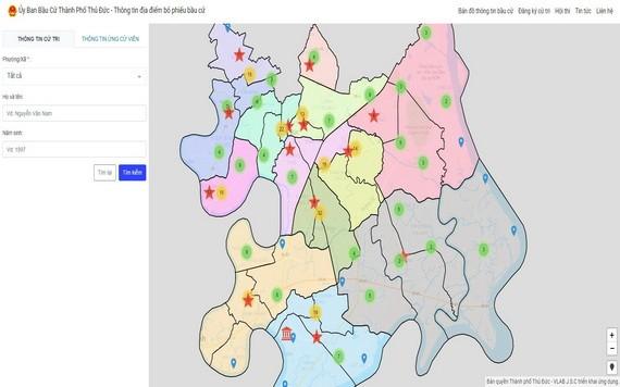 圖為守德市選舉電子網站界面截圖。