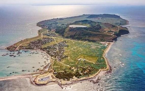 從高處俯瞰的李山島。(圖源:互聯網)
