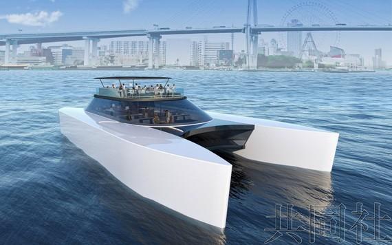 氫能驅動客船。(圖源:共同社)