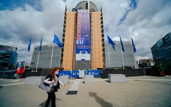 歐盟委員會總部大樓。(圖源:新華社)
