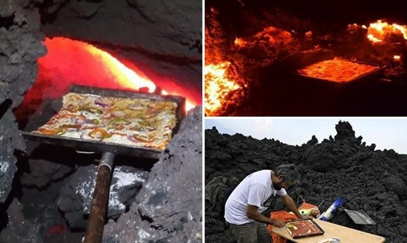 火山熔岩烤製薄餅,別創一格。(圖源:互聯網)