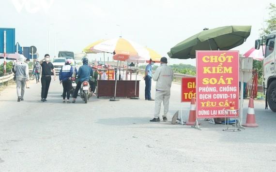 北寧省安豐縣自15日下午2時實施社會隔離措施。(圖源:VOV)