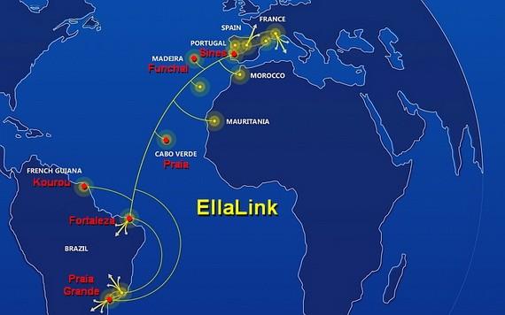 連接歐洲和拉丁美洲的高容量海底光纜項目(EllaLink)1日在葡萄牙西南港口城市錫尼什正式開通運營。(圖源:互聯網)