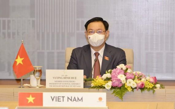 國會主席王廷惠。(圖源:VOV)