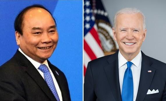 國家主席阮春福(左圖)與美國總統喬‧拜登(右圖)。(圖源:互聯網)