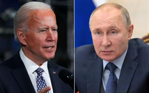 拜登(左圖)與普京。(圖源:互聯網)