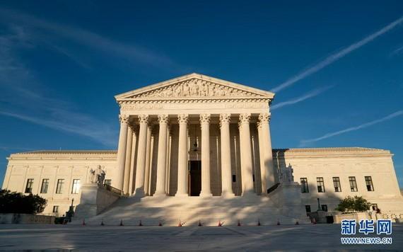 這是6月17日在美國首都華盛頓拍攝的美國聯邦最高法院。(圖源:新華社)