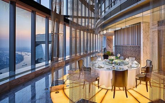 J酒店餐廳窗外景象。(圖源:J酒店上海中心)