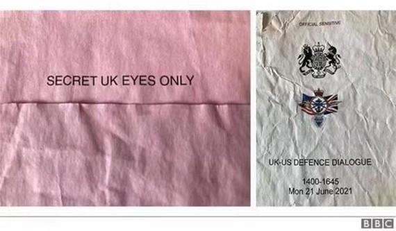 英國國防部的一批機密文件在肯特郡巴士站旁被發現。(圖源:BBC)
