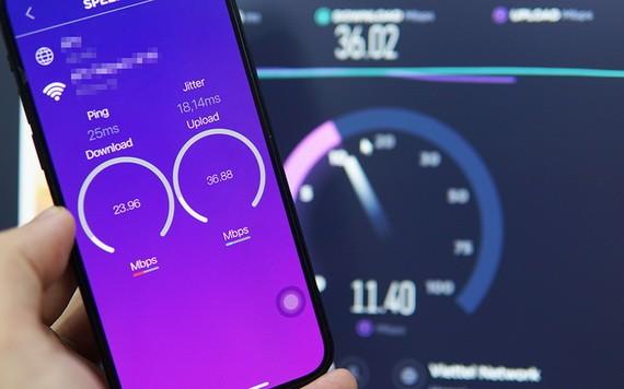 今年5月份越南的手機下載速度每秒達44.49兆比特(Mb),上傳速度每秒達20.16兆比特。(示意圖源:VnE)