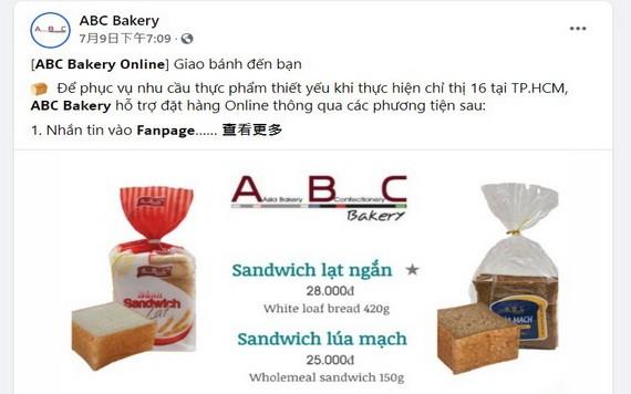 亞洲餅家推出線上訂購麵包服務。(圖源:ABC臉書截圖)