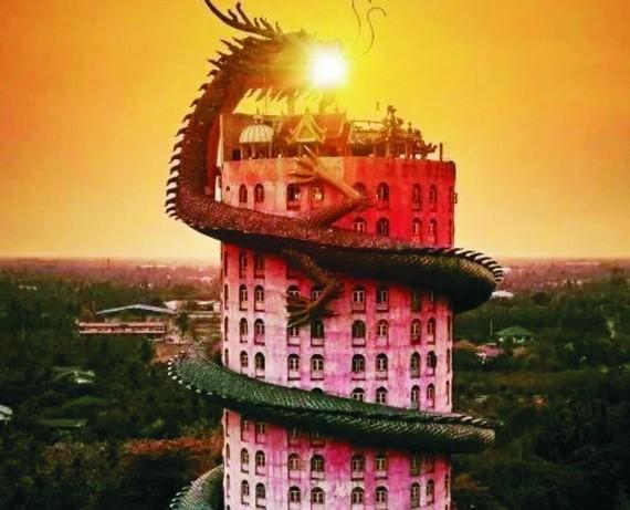 泰國龍廟被一條栩栩如生的巨龍環繞著。