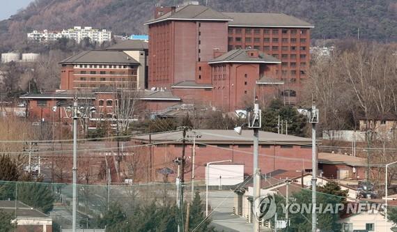 這是攝於2021年1月17日的首爾龍山美軍基地。(圖源:韓聯社)