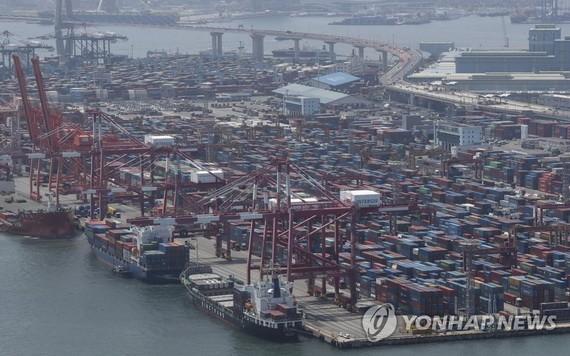 韓國釜山港。(圖源: 韓聯社)