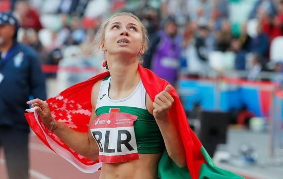 白俄羅斯運動員克莉絲蒂娜·齊馬努斯卡婭。(圖源:互聯網)