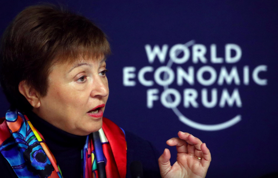 IMF總裁格奧爾基耶娃。(圖源:互聯網)
