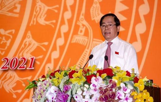 巴地-頭頓省委書記、人民議會主席范曰清在會上致開幕詞。(圖源:越通社)