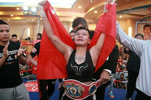 越南女拳手阮氏秋兒。(圖源:互聯網)