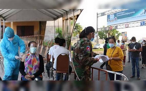 柬埔寨首都金邊人民接種第三劑疫苗。(圖源:互聯網)