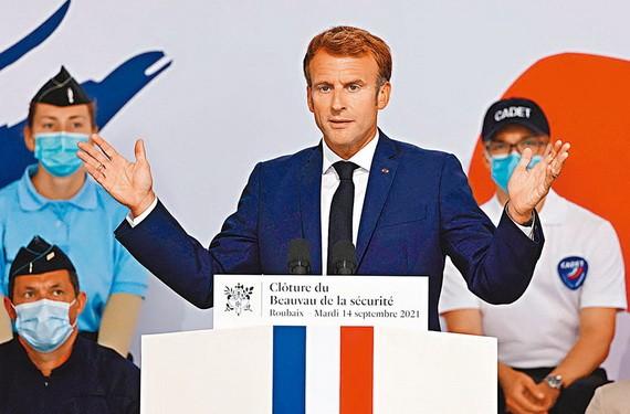 馬克龍宣佈法國警務改革計劃。(圖源:AFP)