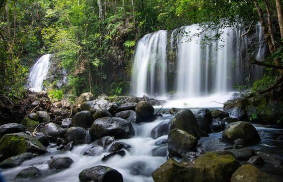圖為嘉萊省昆何農高原生物圈保護區一景