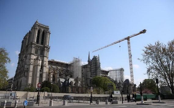 4月16日,法國巴黎,修復中的巴黎聖母院。(圖源:新華社)
