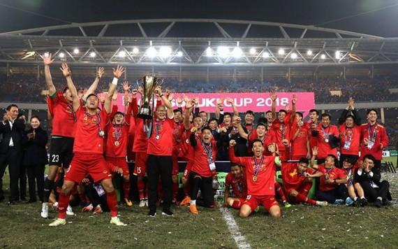 越南隊贏得2018年鈴木盃東南亞足球錦標賽冠軍。(圖源:互聯網)