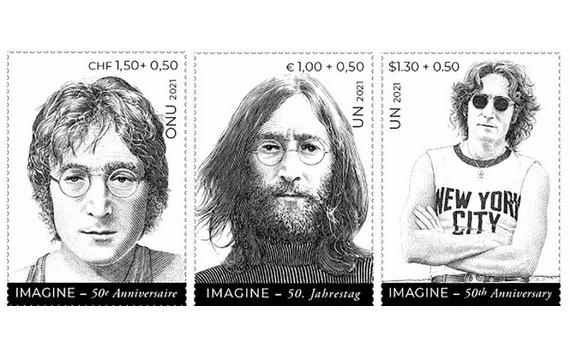 聯合國發行約翰‧列儂紀念郵票