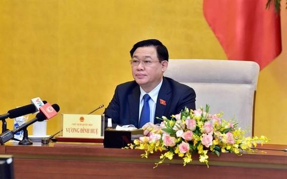 國會主席王廷惠主持座談會。(圖源:英芳)