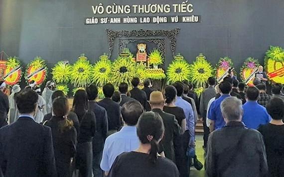 10月11日,武跳教授喪禮在國家殯儀館隆重舉行。(圖源:梅安)