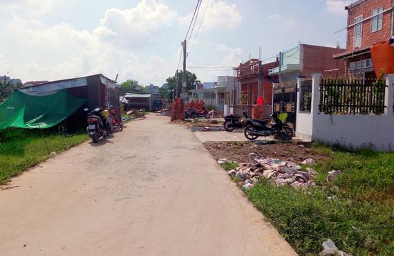 Một khu dân cư tự phát tại quận Bình Thủy, TP Cần Thơ