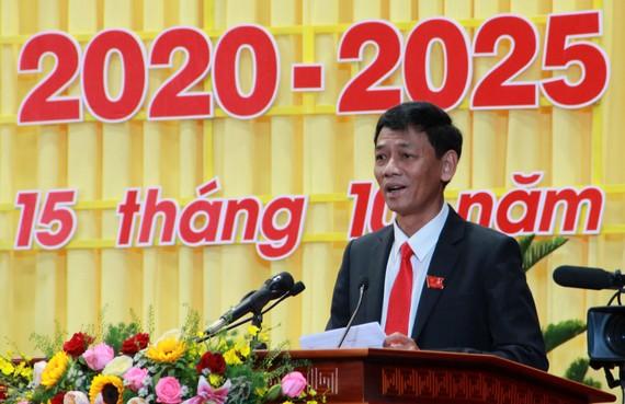 Đồng chí Lâm Văn Mẫn, đắc cử Bí thư Tỉnh ủy Sóc Trăng, nhiệm kỳ 2020-2025. Ảnh: TUẤN QUANG