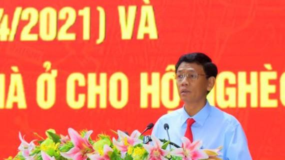 Ông Lâm Văn Mẫn, Bí thư Tỉnh ủy Sóc Trăng phát biểu tại buổi phát động