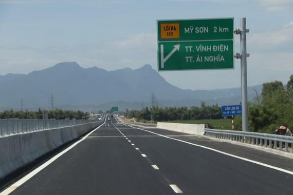 Thông xe kỹ thuật 65km (giai đoạn 1) tuyến cao tốc Đà Nẵng - Quảng Ngãi