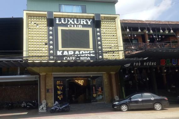 Quán karaoke Luxury, nơi lực lượng công an phát hiện 34 thanh niên dương tính với ma túy