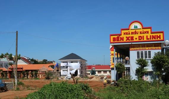 Xử lý dứt điểm sai phạm xây dựng bến xe Di Linh – Lâm Đồng