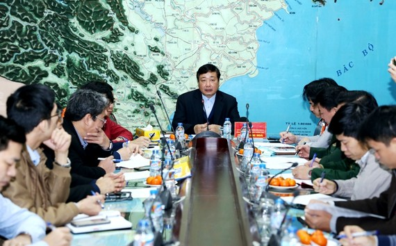 Ông Trần Quang Hoài chủ trì cuộc họp ứng phó bão số 1 sáng nay
