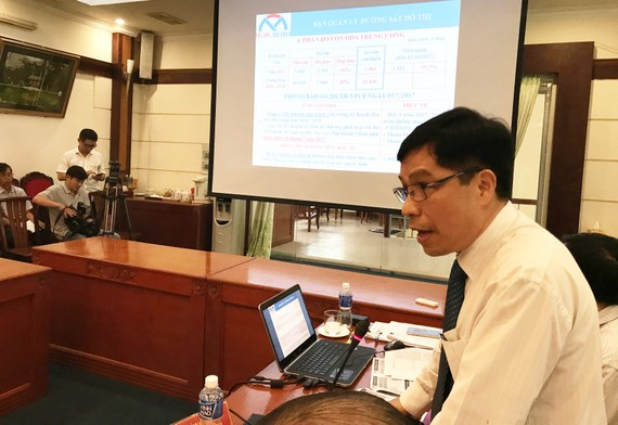 Mr. Le Nguyen Minh Quang, head of the Management Board of Urban Railways, states at the conference (Photo: SGGP)