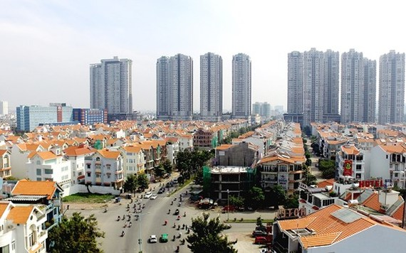 A new residential area in District 7, HCMC (Photo: SGGP)