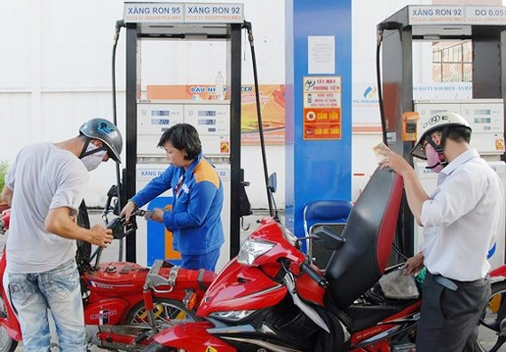 A filling station in Kinh Duong Vuong street, District 6, HCMC (Photo: SGGP)