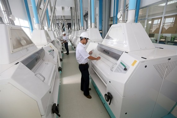 A production line at Taiwan-funded Uni-President Vietnam in Quang Nam Province. (Photo: VNA/VNS)