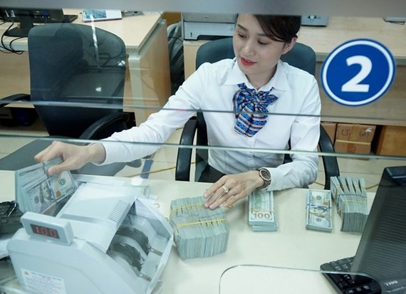 Banks depreciated the dollar against the đồng by some VND15-40 per dollar on Friday.  (Photo: VNA/VNS)