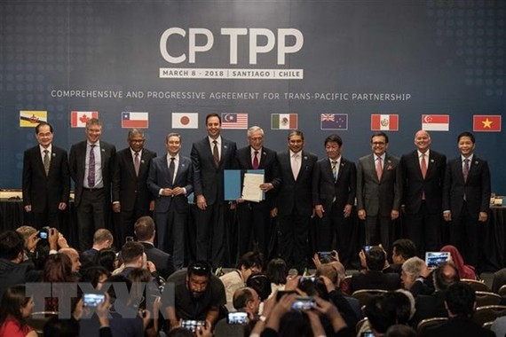At the signing ceremony of CPTPP in Santiago, Chile, on March 8, 2018 (Source: Xinhua/VNA)