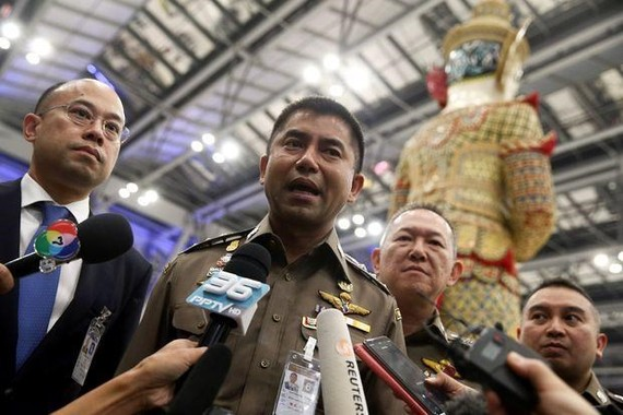 Immigration chief Surachate Hakparn spoke during a news conference on January 11 (Photo: Reuters)