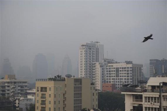 Smog has covered Bangkok in recent weeks (Photo: AFP/VNA)