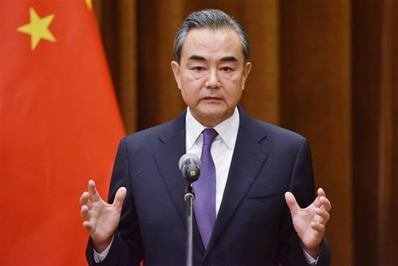 Chinese Minister of Foreign Affairs Wang Yi during a press conference in Beijing, China (Photo: AFP/VNA)
