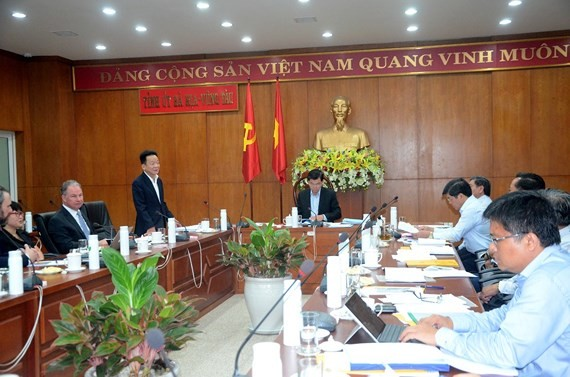 The meeting of T&T Group and Gen X Energy with leaders of Ba Ria - Vung Tau Province. (Photo: SGGP)