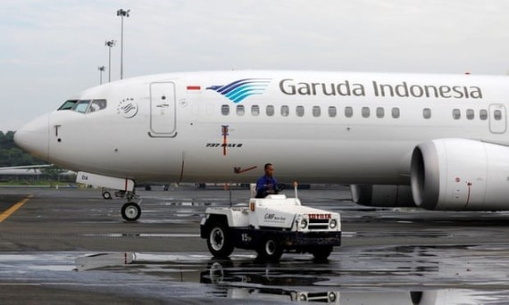 Garuda Indonesia's only Boeing 737 Max 8 aircraft at Jakarta airport (Photo: Reuters)